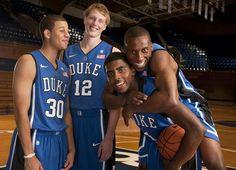 Seth Curry, Kyle Singler, Kyrie Irving and Nolan Smith