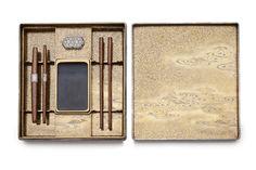 A lacquer writing box (suzuribako)