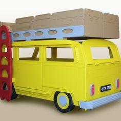 Stunning unusual imaginative children's London Bus themed bed