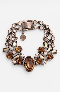 Givenchy 2-Row Bracelet, Color: Smoked Topaz Multi/Brown Gold, $125 at Nordstrom