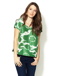 Printed Raw Silk Top by See by Chloe on Gilt.com