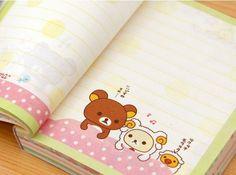 Słodkie notesy Rilakkuma dostępne w sklepie Słodkie Rzeczy! Stationery: Cute Rilakkuma mini notebooks.