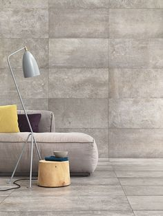 Indoor porcelain stoneware wall/floor tiles with concrete effect I CEMENTI by Phorma