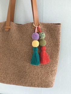 Crochet ideas that you'll love Crochet Baby Dress Pattern, Crochet Patterns, Diy Bags Purses, Crochet Wool, Macrame Bag, Boho Bags, Jute Bags, Fabric Bags, Crochet Purses