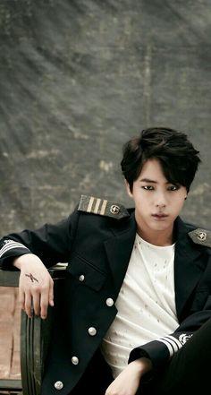 Omg he doesn't look like Jin but he still is Jin