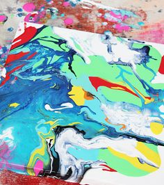 alisaburke: creating with a kid: pour paintings