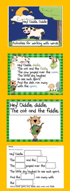 Hey Diddle Diddle Word Work