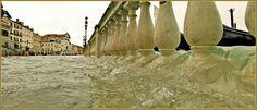 Acqua Alta Venise 1er Nov. 2012: La pataugeoire de la Riva degli Schiavoni, dans le Sestier du Castello à Venise.