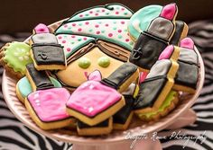 Cute cookies at a spa birthday party! See more party planning ideas at CatchMyParty.com!