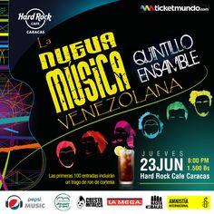 """Hard Rock Cafe Caracas presenta: """"Quintillo Ensamble – La Nueva Música Venezolana"""" http://crestametalica.com/events/hard-rock-cafe-caracas-presenta-quintillo-ensamble-la-nueva-musica-venezolana/ vía @crestametalica"""