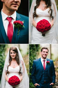 a red, white and blue themed wedding. gorgeous bride and groom flower details. photos by STUDIO 1208
