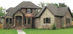 Brown Brick And Stone Combinations NWAHomes New French Country