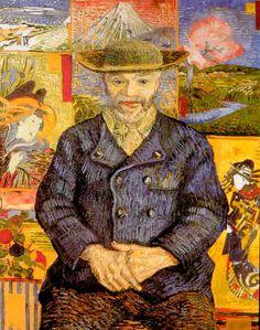 ゴッホが浮世絵から影響を受けていた。ゴッホ『タンギー爺さん』 1887年夏頃、92×75cm、ロダン美術館蔵