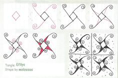 Efilys (molossus, who says Life Imitates Doodles) Tags: zentangle zendoodle tanglepattern zentangleinspiredart Zentangle Drawings, Doodles Zentangles, Doodle Drawings, Easy Zentangle, Doodle Designs, Doodle Patterns, Zentangle Patterns, Flower Patterns, Doodle Borders