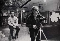 Warhol filming in The Factory