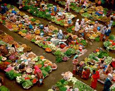 Indonesian market - beautiful colors, fresh food!