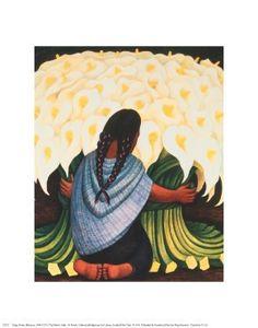 The Flower Seller Diego Rivera Fine Art Print Poster