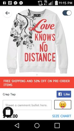 Loves knows no distance sweat shirt
