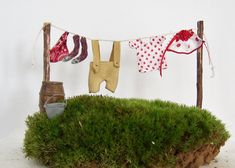 Fairy+Garden+Miniature+Clothesline+by+GreenbriarCreations+on+Etsy,+$18.00