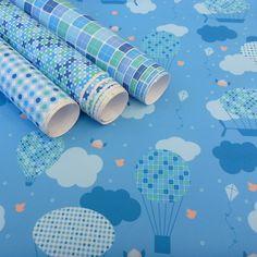 Tecido adesivo - Balão azul