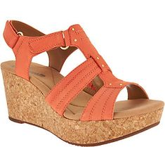 0e00b782aa5 Clarks Leather Triple Adjust Wedge Sandals - Annadel Orchid