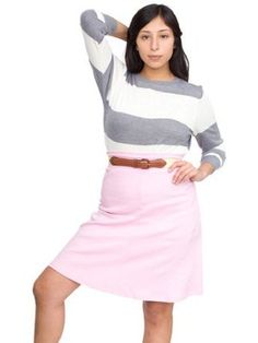 American Apparel Interlock High-Waist Skirt