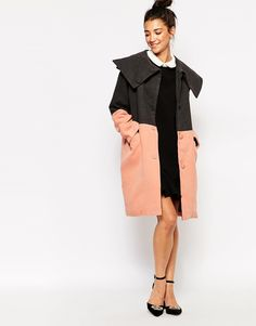 Image 1 of The WhitePepper Chunky Two-Tone Coat