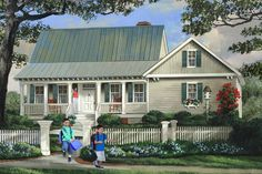 Often overlapping with cottage plans and farmhouse plans, country house plans offer outdoor living, woodsy simplicity, and more. Southern House Plans, Country Style House Plans, Southern Homes, Southern Style, Southern Cottage, Basement House Plans, House Floor Plans, Basement Ideas, Farmhouse Plans