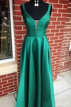 Sleeveless Satin Sweep Train Prom Dresses,PL5144 on Luulla