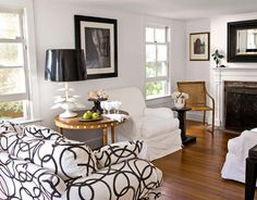 Cottage Decorating - Black and White Decor - Country Living