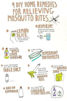How to get rid of those nasty mosquito bites, thank you pinterest