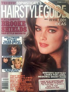 Brooke Shields covers Hair Style Guide Magazine ( United States) December 1983