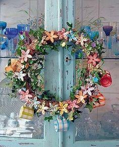 Casinha colorida: Decoração de Natal em tons suaves