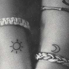 Bundle of Sun and Moon temporary Tattoo, Sun temporary tattoo, Minimalist tattoos, Apollo tattoo, Solar T Bff Tattoos, Bestie Tattoo, Cute Girl Tattoos, Fake Tattoos, Trendy Tattoos, Tattoos For Guys, Tattoo Sister, Meaning Tattoos, Tattoos For Scars