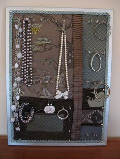 Gorgeous customizable jewelery boards on etsy!  Love love love this!