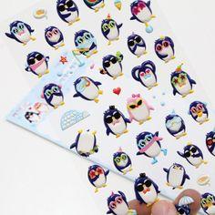 Korea Brand PETIT Cute Nice Panguin Character 1Pcs Diary Decoration Soft Sticker #PETITFANCY #Soft