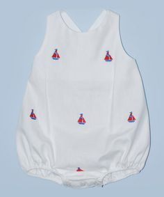 Another great find on #zulily! White Sailboat Bubble Romper - Infant by K&L #zulilyfinds
