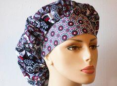 Scrub Hats Bouffant Surgical Scrub Hat Grey by SilverCaps on Etsy