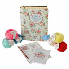 Cath Kidston Crochet Kit In A Book Tin