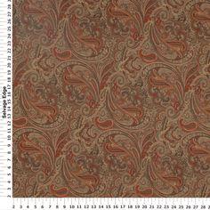 Patna Paisley Spice Drapery Fabric - nice but very orange-y