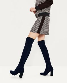 Image 6 of STRETCH LEG HIGH HEEL BOOTS from Zara