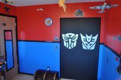 Transformer Bedroom Closet Doors Inspiration &  Painting Ideas. Autobots Decepticons