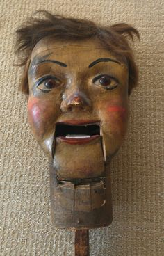 19th Century Ventriloquist Dummy Head.......how come these are so much creepier than all the other heads???