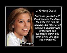 Soccer Player Quotes, Basketball Quotes, Soccer Players, Lacrosse Quotes, Alex Morgan Quotes, Soccer Motivation, Motivation Wall, Yoga Inspiration, Yoga Meditation