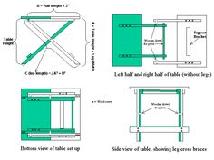 Folding table DIY