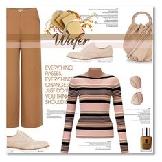 """""""chocolate wafer"""" by limass ❤ liked on Polyvore featuring Hard Graft, Miss Selfridge, Loewe, Dune Black, Uniqlo, Etiquette, H&M and Clinique"""