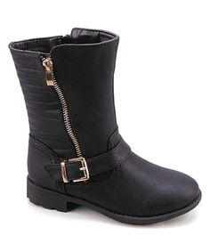 Love this Betani Black Buckle Boot by Betani on #zulily! #zulilyfinds