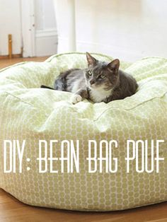 Bean bag tutorial for cats or dogs or is it supposed to be for humans?! Either way I think this will make a great home sewing project.