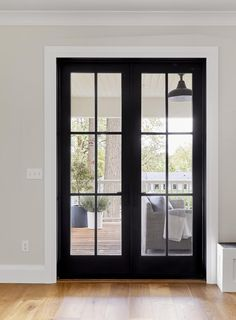 How to Choose Windows for Your Whole House (and What We Did for the Portland House) - Emily Henderson Black French Doors, French Doors Patio, Patio Doors, French Windows, Exterior Glass Doors, Exterior French Doors, Glass Office Doors, Internal French Doors, Black Doors