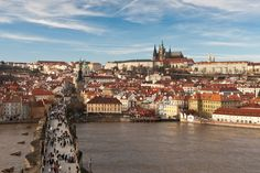 https://flic.kr/p/9bz1rG | Prague, Czech Republic | The first masonry in Prague dates to 885 AD, and the city flourished as an Imperial city under the Roman Emporer Charles IV during 1346 to 1378. Prague became an archbshopric in 1344, the same year construction of the Gothic Saint Vitus Cathedral (on top of the hill) was begun.It was then the 3rd largest city in Europe. After Charles IV died in 1378, Prague experienced varying degrees of turmoil but continued to strenghten both in…